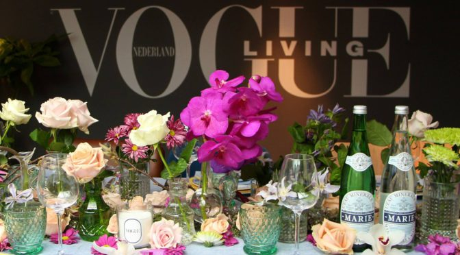 Flowers during Vogue Living launch in Milan and Amsterdam first Dutch Vogue Living launched