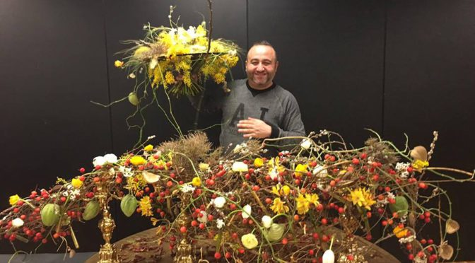 Araik Galstyan WORKSHOP&MASTER FLORIST DIPLOMA, Barcelona 14-18 January, 2017